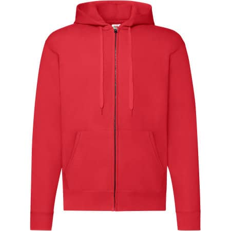 Classic Hooded Sweat Jacket in Red von Fruit of the Loom (Artnum: F401N