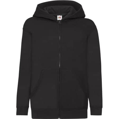Classic Hooded Sweat Jacket Kids in Black von Fruit of the Loom (Artnum: F401NK