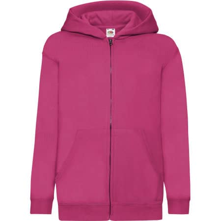 Classic Hooded Sweat Jacket Kids in Fuchsia von Fruit of the Loom (Artnum: F401NK