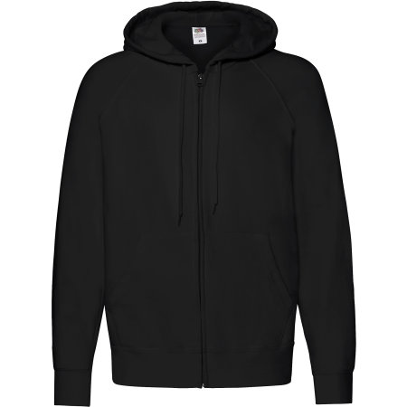 Lightweight Hooded Sweat Jacket in Black von Fruit of the Loom (Artnum: F407