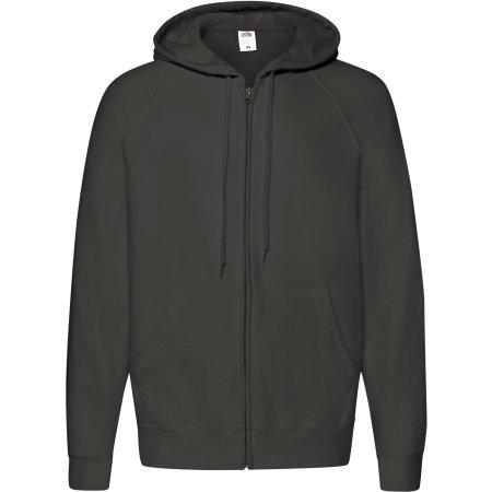 Lightweight Hooded Sweat Jacket in Light Graphite (Solid) von Fruit of the Loom (Artnum: F407