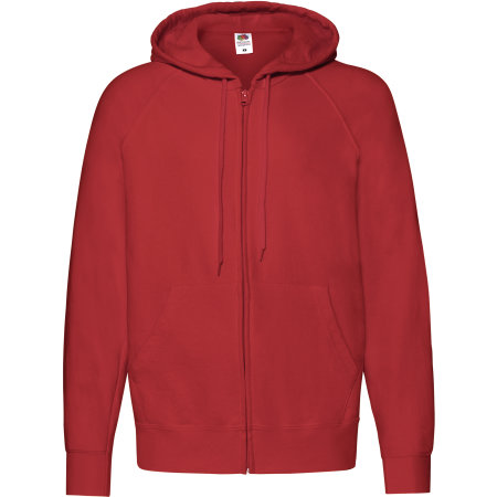 Lightweight Hooded Sweat Jacket in Red von Fruit of the Loom (Artnum: F407