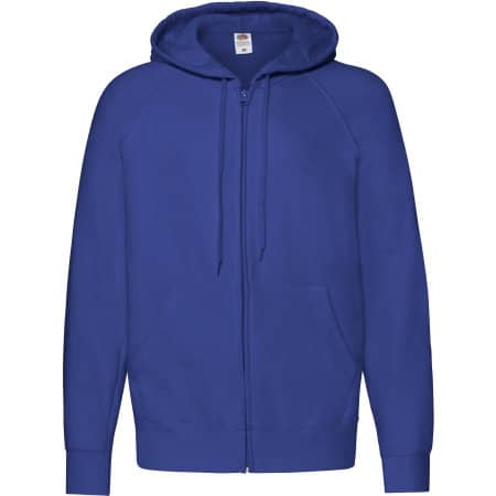 Lightweight Hooded Sweat Jacket in Royal Blue von Fruit of the Loom (Artnum: F407