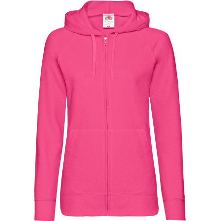 Lightweight Hooded Sweat Jacket Lady-Fit in Fuchsia von Fruit of the Loom (Artnum: F408