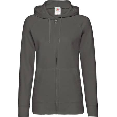 Lightweight Hooded Sweat Jacket Lady-Fit in Light Graphite (Solid) von Fruit of the Loom (Artnum: F408