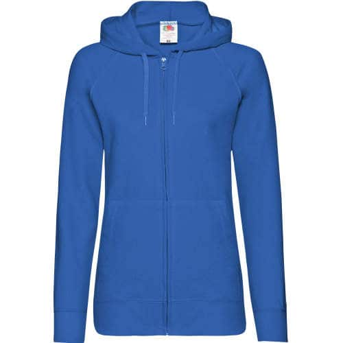 Fruit of the Loom - Lightweight Hooded Sweat Jacket Lady-Fit