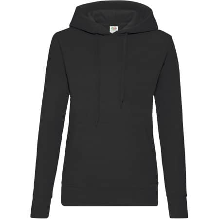 Classic Hooded Sweat Lady-Fit in Black von Fruit of the Loom (Artnum: F409