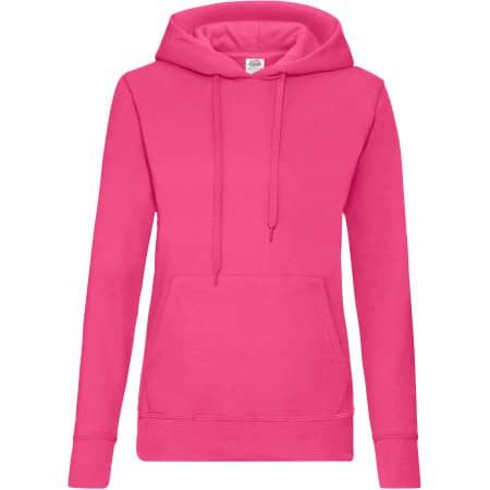 Classic Hooded Sweat Lady-Fit in Fuchsia von Fruit of the Loom (Artnum: F409