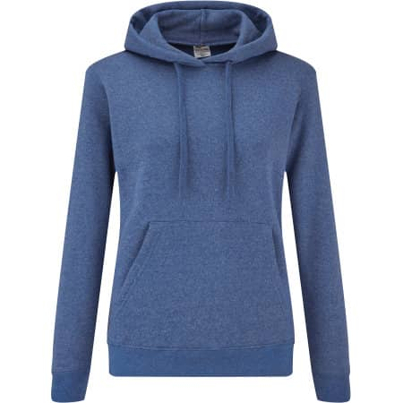 Classic Hooded Sweat Lady-Fit in Heather Royal von Fruit of the Loom (Artnum: F409