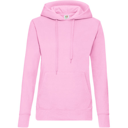 Classic Hooded Sweat Lady-Fit in Light Pink von Fruit of the Loom (Artnum: F409