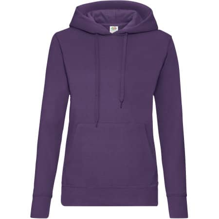 Classic Hooded Sweat Lady-Fit in Purple von Fruit of the Loom (Artnum: F409
