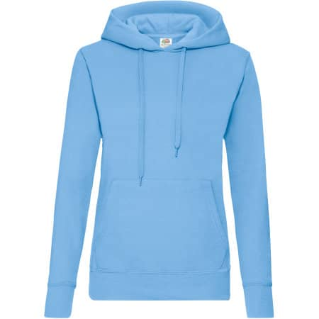 Classic Hooded Sweat Lady-Fit in Sky Blue von Fruit of the Loom (Artnum: F409