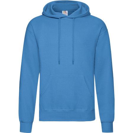 Classic Hooded Sweat in Azure Blue von Fruit of the Loom (Artnum: F421
