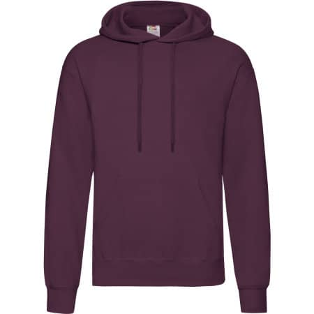 Classic Hooded Sweat in Burgundy von Fruit of the Loom (Artnum: F421