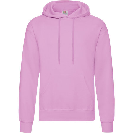 Classic Hooded Sweat in Light Pink von Fruit of the Loom (Artnum: F421