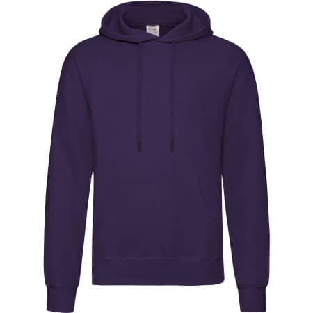 Classic Hooded Sweat in Purple von Fruit of the Loom (Artnum: F421