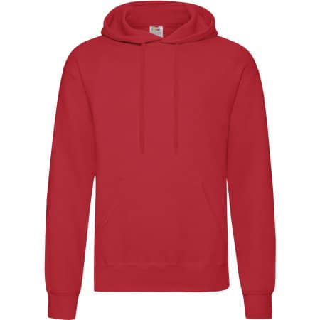 Classic Hooded Sweat in Red von Fruit of the Loom (Artnum: F421