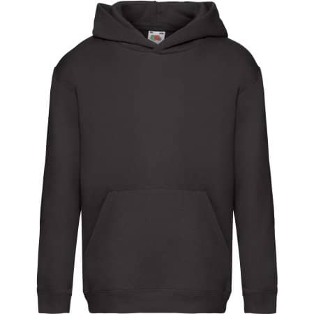 Premium Hooded Sweat Kids in Black von Fruit of the Loom (Artnum: F421K