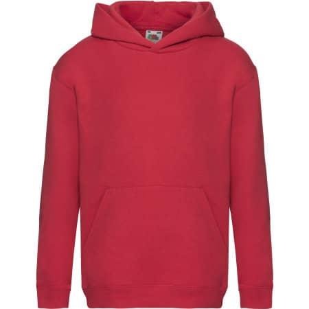 Premium Hooded Sweat Kids in Red von Fruit of the Loom (Artnum: F421K