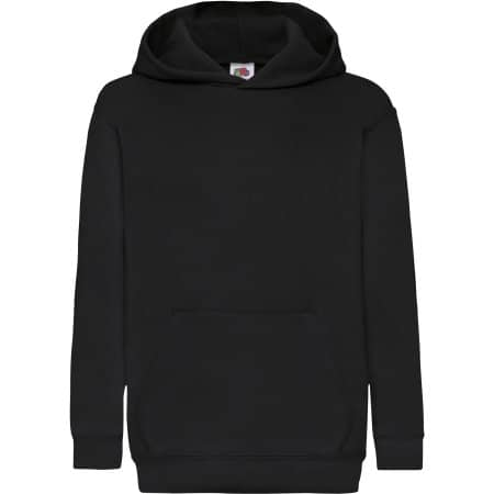 Classic Hooded Sweat Kids in Black von Fruit of the Loom (Artnum: F421NK