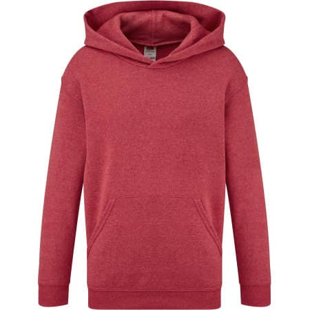 Classic Hooded Sweat Kids in Heather Red von Fruit of the Loom (Artnum: F421NK