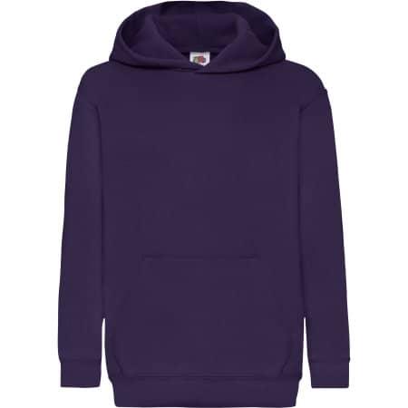 Classic Hooded Sweat Kids in Purple von Fruit of the Loom (Artnum: F421NK