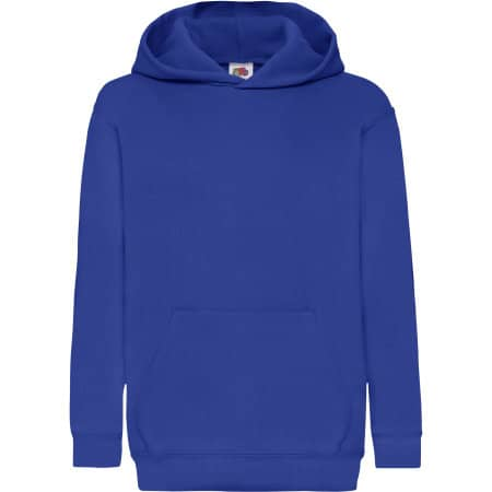 Classic Hooded Sweat Kids in Royal Blue von Fruit of the Loom (Artnum: F421NK