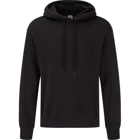 Classic Hooded Basic Sweat in Black von Fruit of the Loom (Artnum: F425