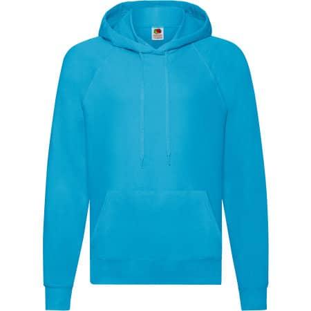 Lightweight Hooded Sweat in Azure Blue von Fruit of the Loom (Artnum: F430