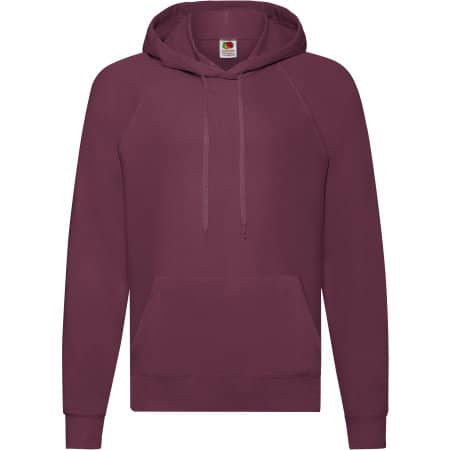 Lightweight Hooded Sweat in Burgundy von Fruit of the Loom (Artnum: F430