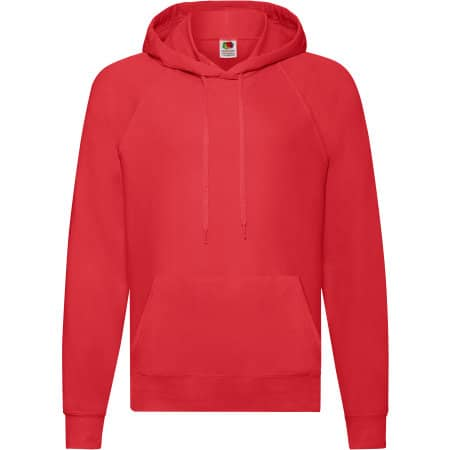 Lightweight Hooded Sweat in Red von Fruit of the Loom (Artnum: F430