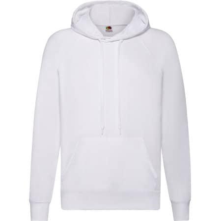 Lightweight Hooded Sweat in White von Fruit of the Loom (Artnum: F430