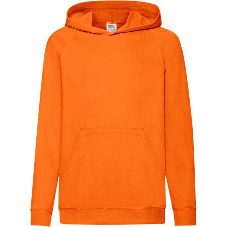 Lightweight Hooded Sweat Kids in Orange von Fruit of the Loom (Artnum: F430K