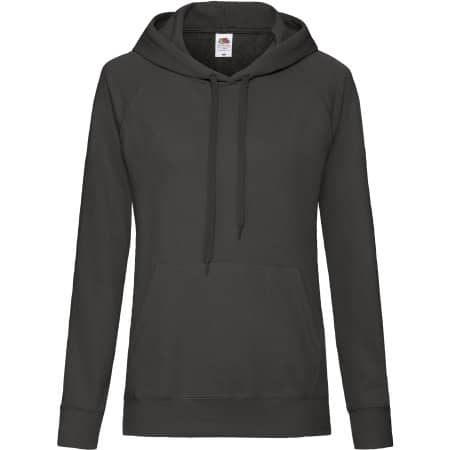 Lightweight Hooded Sweat Lady-Fit in Light Graphite (Solid) von Fruit of the Loom (Artnum: F435