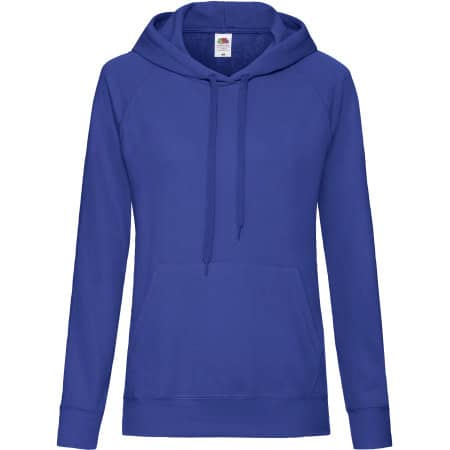Lightweight Hooded Sweat Lady-Fit in Royal Blue von Fruit of the Loom (Artnum: F435