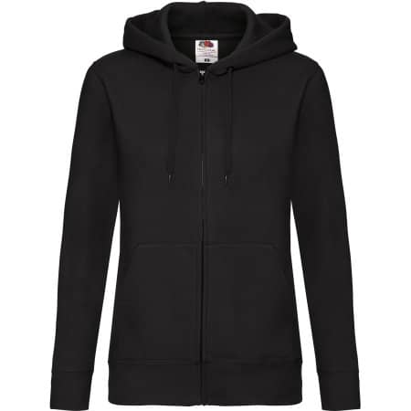 Premium Hooded Sweat Jacket Lady-Fit in Black von Fruit of the Loom (Artnum: F440N