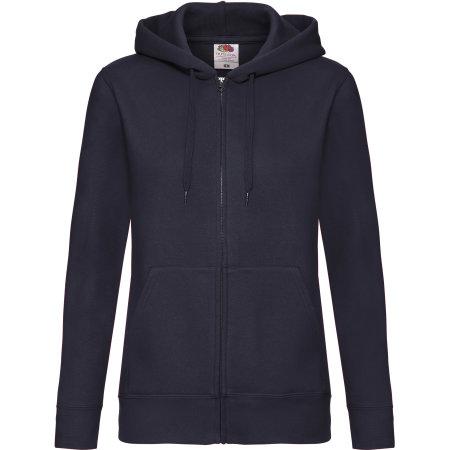 Premium Hooded Sweat Jacket Lady-Fit in Deep Navy von Fruit of the Loom (Artnum: F440N