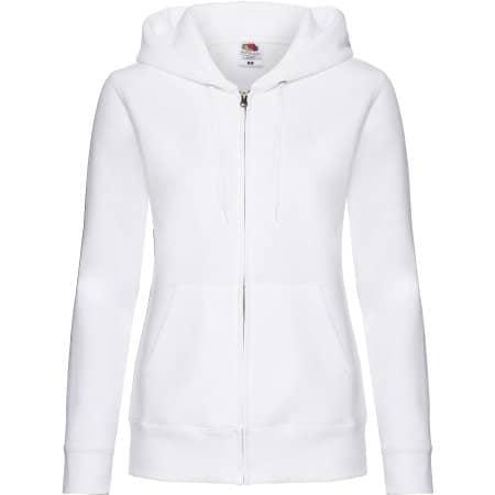 Premium Hooded Sweat Jacket Lady-Fit in White von Fruit of the Loom (Artnum: F440N