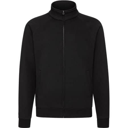 Premium Sweat Jacket in Black von Fruit of the Loom (Artnum: F457