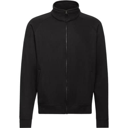 Classic Sweat Jacket in Black von Fruit of the Loom (Artnum: F457N