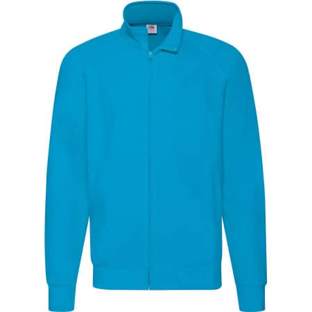 New Lightweight Sweat Jacket in Azure Blue von Fruit of the Loom (Artnum: F460
