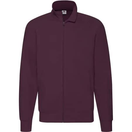 New Lightweight Sweat Jacket in Burgundy von Fruit of the Loom (Artnum: F460