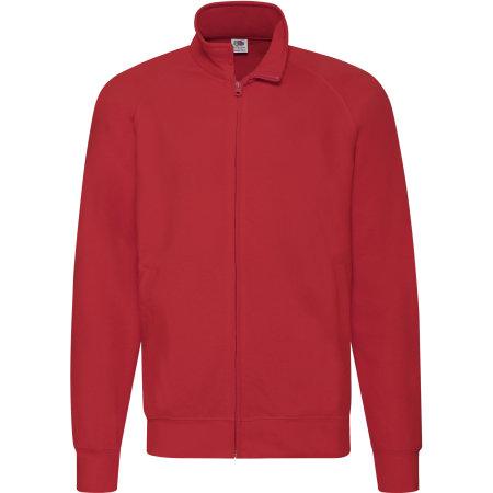 New Lightweight Sweat Jacket in Red von Fruit of the Loom (Artnum: F460