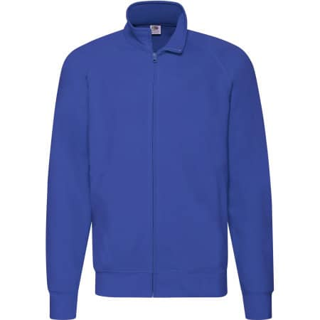 New Lightweight Sweat Jacket in Royal Blue von Fruit of the Loom (Artnum: F460