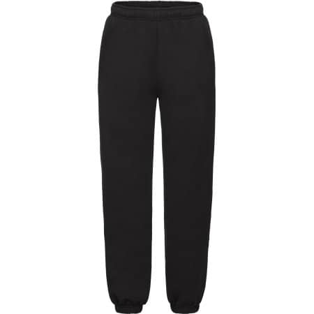 Premium Elasticated Cuff Jog Pants Kids in Black von Fruit of the Loom (Artnum: F480K