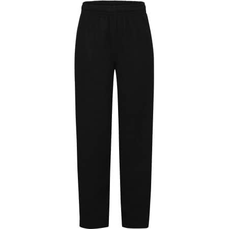 Lightweight Open Hem Jog Pants Kids in Black von Fruit of the Loom (Artnum: F490K