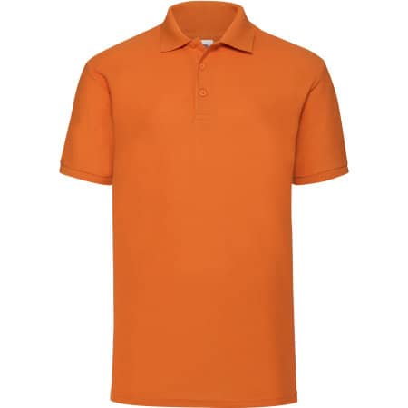 65/35 Piqué Polo in Orange von Fruit of the Loom (Artnum: F502
