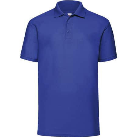 65/35 Piqué Polo in Royal Blue von Fruit of the Loom (Artnum: F502
