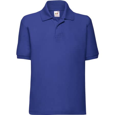 65/35 Polo Kids in Royal Blue von Fruit of the Loom (Artnum: F502K
