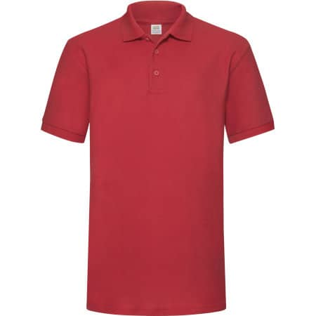 65/35 Heavy Piqué Polo in Red von Fruit of the Loom (Artnum: F503